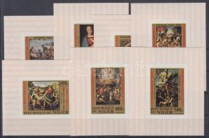 1983 Raffaello festmények 7 érték blokkformában Mi 835-837, 839-842