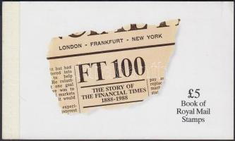 1988 A Financial Times újság története bélyegfüzet Mi MH 81