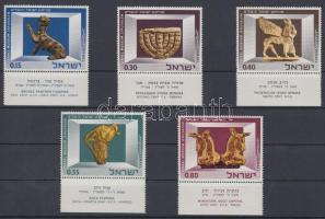 1966 Izraeli Múzeum műkincsei tabos sor Mi 371-376