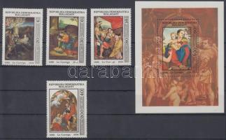 1984 Madonna értékek Mi 946-949 + blokk Mi 25
