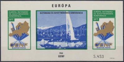 1974 Európai Biztonsági és Együttműködési Konferencia (II) - Genf vágott blokk (22.000)