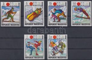 1972 Téli olimpia, Sapporo vágott sor Mi 407 B-412 B
