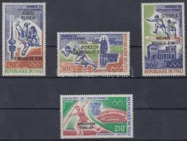 1972 Olimpiai aranyérmesek sor felülnyomással Mi 361-364
