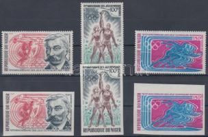 1971 Olimpiai játékok fogazott és vágott sor Mi 291-293