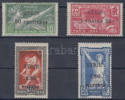 1924 Párizsi olimpiai játékok sor felülnyomással Mi 227-230