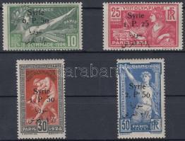 1924 Párizsi olimpiai játékok sor felülnyomással Mi 254-257