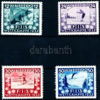 1933 Síelés sor Mi 551-554