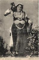 Greek woman from Monastir, folklore, Görög nő Monasztirból, folklór