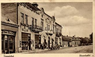 Tiszaújlak, Vylok; Reiter Béla üzlete, Gazdasági bank, automobil, Goldstein kiadása / shop, bank, automobile (EK)
