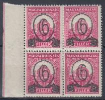 1931 Kisegítő 506B ívszéli négyestömb (48.000) / 472yA margin block of 4