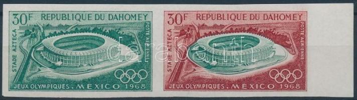 1968 Nyári olimpia vágott 30Fr pár Mi 360 színpróba