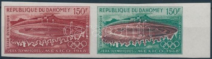 1968 Nyári olimpia vágott 150Fr pár Mi 363 színpróba
