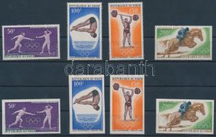 1968 Nyári olimpia érmesei fogazott és vágott sor Mi 189-192