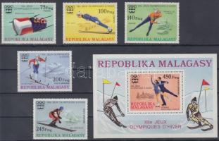 1975 Téli olimpia sor Mi 767-771 + blokk Mi 9