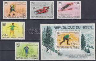 1976 Téli olimpia sor Mi 506-510 + blokk Mi 12