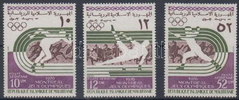 1976 Montreali nyári olimpia sor Mi 536-538