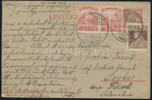 1921 (2. díjszabás) Cenzúrás levelezőlap Csehszlovákiába / Censored postcard to Czechoslovakia
