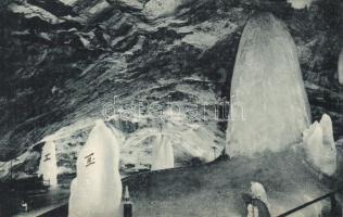 Dobsiná, ice cave, Pillar Hall, Dobsina jégbarlang, Oszlop-terem, Fejér Endre kiadása