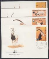 1985 WWF: Antilopok sor 4 db FDC-n Mi 941-944