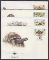 1987 WWF: Teknősök sor 4 db FDC-n Mi 137-140