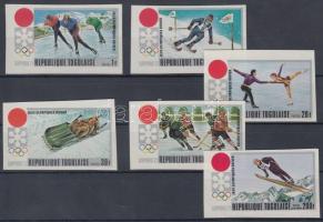 1971 Sapporoi téli olimpia vágott sor Mi 888 B-893 B