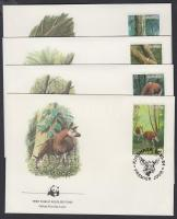 1984 WWF: Okapi sor 4 db FDC-n Mi 875-878