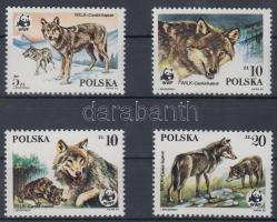 1985 WWF: Farkasok sor + 4 db FDC és CM Mi 2975-2978