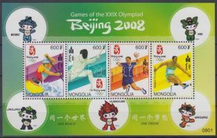 2008 Olimpia Peking kisív Mi 3707-3710