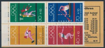 1972 Nyári olimpia bélyegfüzetlap MH 17