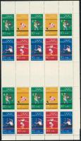 1972 Nyári olimpia 20 db bélyegfüzetlap hajtott teljes ívben MHB 17