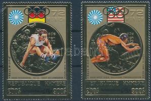 1973 Olimpiai aranyérmesek aranyfóliás sor Mi 368-369 A