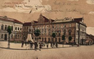 Lucenec, hotel, Losonc, Városi szálloda; Redlinger Ignác kiadása