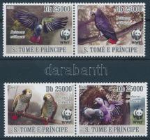 2009 WWF: Szürke papagáj sor Mi 3777-3780