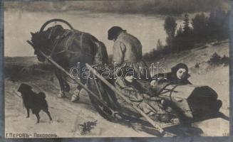 'Funeral' Russian folklore s: Vasily Perov, 'Temetés' Orosz folklór s: Vasily Perov