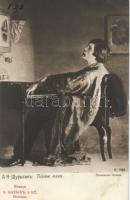 'Understand me' Man is playing the piano s: Shurigin, 'Érts meg' zongorázó férfi s: Shurigin