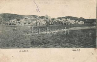 Milos, boat