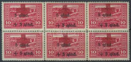 1924 Vöröskereszt (II) 10Q 6-os tömb Mi 101
