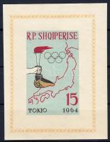 1963 Tokiói olimpia vágott blokk Mi 19 B