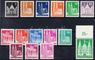 1948 Forgalmi: Épületek sor Mi 73-97 eg