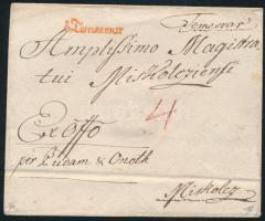 1787 Ex offo piros / red v.Temeswar - Miskolcz