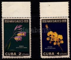 1958 Karácsony; Virág sor Mi 613-614