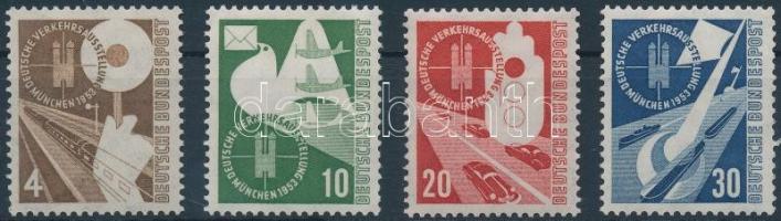 1953 Közlekedési kiállítás sor Mi 167-170