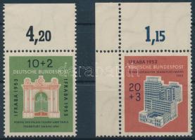 1953 Nemzetközi bélyegkiállítás ívszéli sor Mi 171-172