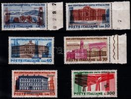 1961 100 éves egyesült Olaszország sor Mi 1107-1112