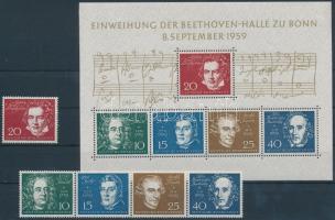 1959 Zeneszerzők sor Mi 315-319 + blokk Mi 2