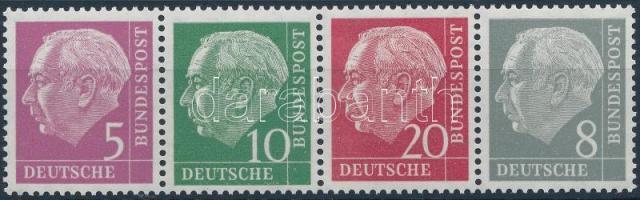 1954 Heuss bélyegfüzet összefüggés