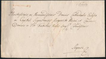 1785 Portós levél / cover with postage due piros / red v.Temeswar - Scepusii