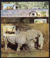 WWF: Rhinos set 4 CM, WWF: Orrszarvúk sor 4 db CM-en