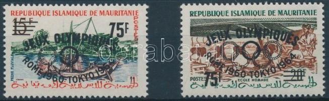 1962 Római olimpia sor felülnyomással Mi I II-II II
