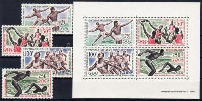 1964 Tokiói nyári olimpia sor Mi 59-62 + blokk Mi 2